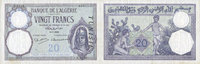 16.7.1938 ANCIENT FRENCH COLONIES Tunisie. Billet. 20 francs, type 191... 130,00 EUR  +  7,00 EUR shipping