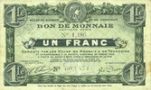 20.4.1916 FRENCH EMERGENCY NOTES Roubaix et Tourcoing (59). Billet. 1 ... 4,00 EUR  +  7,00 EUR shipping