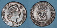 FRENCH ROYAL COINS  Louis XV (1715-1774). Liard à la vieille tête 1771V. Troyes