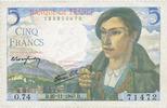 1943-11-25 BANKNOTEN DER BANQUE DE FRANCE Banque de France, billet, 5 ... 16,00 EUR