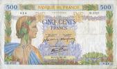 2.10.1941 NOTES OF THE BANQUE DE FRANCE Banque de France. Billet. 500 ... 18,00 EUR  +  7,00 EUR shipping