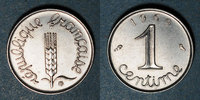 1969 FRENCH MODERN COINS 5e république (1959- /). 1 centime épi 1969. ... 15,00 EUR  +  7,00 EUR shipping