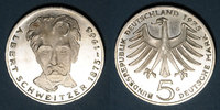 1975 G GERMANY after 1870 Allemagne. 5 mark 1975G. 'Albert Schweitzer'... 7,00 EUR  +  7,00 EUR shipping