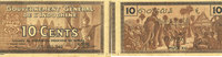 1939 ANCIENT FRENCH COLONIES Indochine. Billet. 10 cents (1939). Gouve... 8,00 EUR  +  7,00 EUR shipping