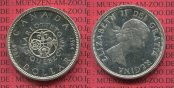 Kanada, Canada 1 Dollars Silbermünze 1964 ...