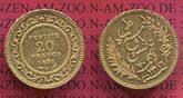 20 Francs Goldmünze für Tunesien 1899 Fran...