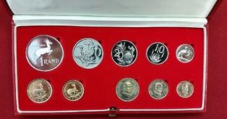 1 Rand & 2 Rand Goldmünzen + KMS 1982 Süda...