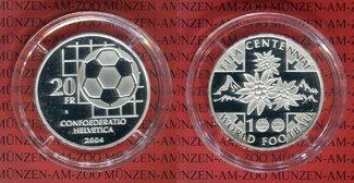 20 Franken Silbermünze 2004 Schweiz 20 Fra...