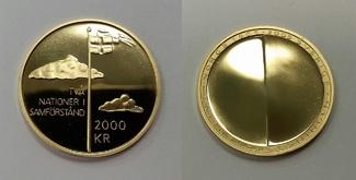 2000 Kroner Goldmünze 2005 Schweden 100 Ja...