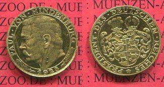 Goldmedaille 1928 Weimarer Republik Hinden...