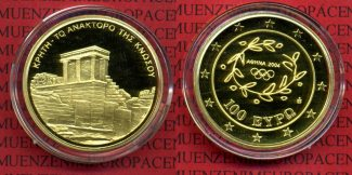 Griechenland, Greece 100 Euro Gold 2004 Po...