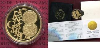 100 Euro Gold, 1/2 Unze 2003 Belgien, Belg...