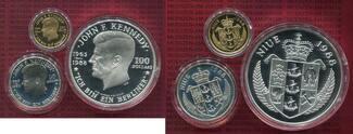 Satz 50 u. 100 und 250 Dollars 1988 Niue J...