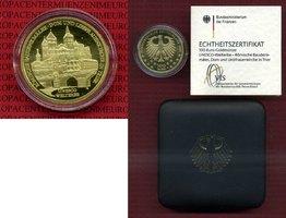 100 Euro Gold Trier 2009 A Deutschland BRD Deutschland BRD 100 Euro Gold 2009 A Weltkulturerbe Trier Stgl. mit Zertifikat Stempelglanz mit Zertifikat und Box OVP