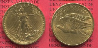 USA 20 Dollars Goldmünze Double Eagle 1908...
