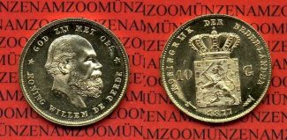 Niederlande Holland 10 Gulden Goldmünze Ku...