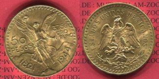 Mexico 50  Pesos Goldmünze 1944 Bankfrisch...