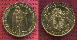 Ungarn Österreich 1100 Kronen Gold Offizie...