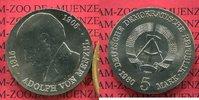 DDR GDR Eastern Germany 5 Mark Gedenkmünze Commemorative Coin DDR 5 Mark 1980 Neusilber 75. Todestag von Adolph von Menzel