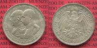 3 Mark Silber 1915 Mecklenburg Schwerin Jahrhundertfeier 100 Years Cele... 275,00 EUR  +  8,50 EUR shipping