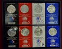 USA 8 x 1 Dollar Silber PSD Set + Proof USA Satz 8 x 1 Dollar 1984 Silber, in OVP Olympische Spiele Los Angeles