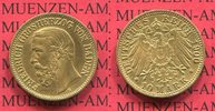 Baden 10 Mark Goldmünze Baden 10 Mark Gold 1900, Großherzog Friedrich J. 188