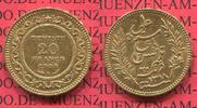 Frankreich, France Tunesien 20 Francs Goldmünze für Tunesien Tunesien Französische Herrschaft 20 Francs 1900, Gold