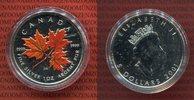 Kanada 5 Dollars Silbermünze Kanada 5 Dollars Maple Leaf 2001 1 Unze Feinsilbergehalt, Farbmünze