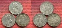 Lot von 3 Münzen Silber 1910 und 1913 Preußen und Bayern Kaiserreich 3 ... 59,00 EUR  +  8,50 EUR shipping