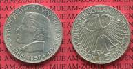 Bundesrepublik Deutschland, FRG, Germany 5 DM Silber Gedenkmünze 5 DM 1957 J, 100. Todestag von Joseph Freiherr von Eichendorff J. 391,