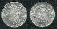USA 1 Dollar Morgan Typ USA 1883 CC, 1 Dollar Morgan Typ Silber Carson City