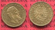 Preußen, State of Prussia German Empire 10 Mark Goldmünze 10M Preußen 10 Mark Gold 1888 A,  J. 247 Friedrich III. vz