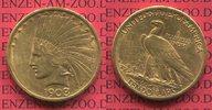 10 Dollars Eagle Indian Head 10D 1908 D USA Indianerkopf, Indian Head, ... 899,00 EUR  +  8,50 EUR shipping