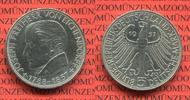 Bundesrepublik Deutschland 5 DM Gedenkmünze Commemorative Coin Bundesrepublik Deutschland 5 DM 1957 100. Todestag von Eichendorff