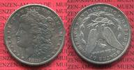 USA 1 Dollar Morgan Typ USA 1882 CC, 1 Dollar Morgan Typ Silber Carson City