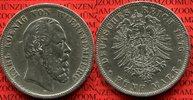Württemberg 5 Mark Silber Karl König von Württemberg