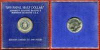 1/2 Dollar 1967 USA Kennedy mit Gegenstempel 1979 Papal Half Dollar Ban... 69,00 EUR  +  8,50 EUR shipping