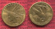 10 Dollars Eagle Indian Head 1910 D USA US...