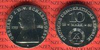 10 Mark 1980 DDR Gedenkmünze 225. Geburtstag Gerhard von Scharnhorst pr... 39,00 EUR