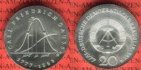 20 Mark 1977 DDR Gedenkmünze 200. Geburtstag Carl Friedrich Gauß prägef... 55,00 EUR53,00 EUR