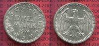3 Mark Silber Kursmünze 1924 A Weimarer Republik Kursmünze, Drei ausges... 70,00 EUR  +  8,50 EUR shipping