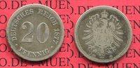 20 Pfennig Silbermünze 1877 F Kaiserreich Germany kleiner Adler, Sehr s... 199,00 EUR  +  8,50 EUR shipping