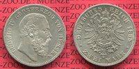 2 Mark Silber 1888 Hessen, Hesse-Darmstadt Kursmünze Ludwig IV. Sehr Se... 3250,00 EUR  +  8,50 EUR shipping