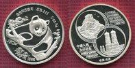 München Panda 5 Unzen Silber 1988 China Vo...