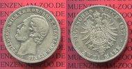 2 Mark Silber Kursmünze 1877 Mecklenburg Strelitz Friedrich Wilhelm ss  395,00 EUR  +  8,50 EUR shipping