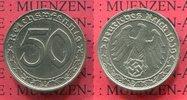 50 Pfennig 1939 D Deutschland 1933-1945 III. Reich  Nickel vorzüglich  50,00 EUR  excl. 8,50 EUR verzending