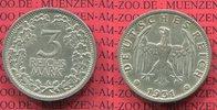 3 Mark Kursmünze Silber 1931 Weimarer Republik Deutsches Reich Kursmünz... 295,00 EUR  excl. 8,50 EUR verzending