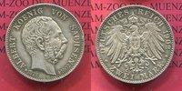 2 Mark Silber 1902 E Sachsen Auf den Tod von König Albert, vz kl rdf. T... 59,00 EUR  +  8,50 EUR shipping