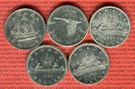 5 x 1 Dollar Silbermünzen 1949 - 1967 Kanada Lot von fünf Münzen Lot, b... 79,00 EUR  +  8,50 EUR shipping
