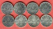 8 x 1 Dollar Silbermünzen 1935 - 1966 Kanada Lot von acht Münzen Kanu L... 149,00 EUR  +  8,50 EUR shipping